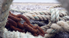 Fisherman Ropes And Rusty Chains By The Ocean (Étretat)