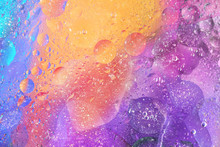 Colorful Background With Bubbles In Purple Orange And Blue