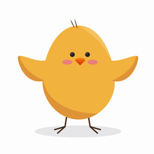 Cute Little Chick Icon Vector ...