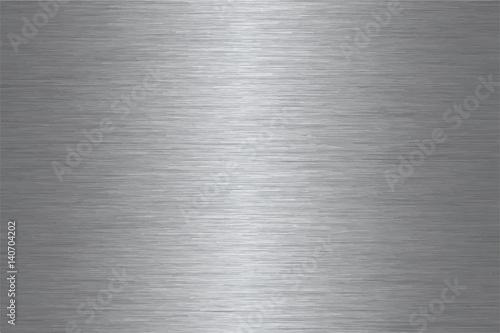Poster de jardin Metal Brushed stainless steel vector pattern
