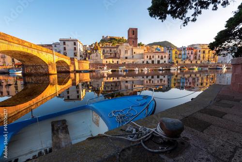 Photo  Bosa, town and comune in the province of Oristano, Sardinia region, Italy