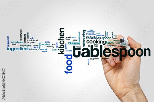 Fotografia, Obraz  Tablespoon word cloud