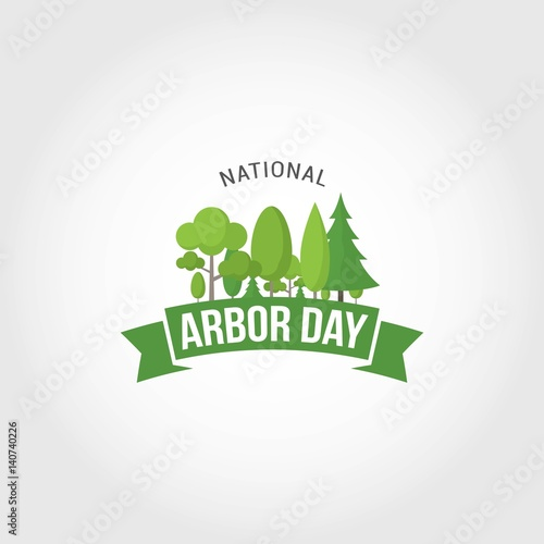 Photo National Arbor Day Vector Illustration