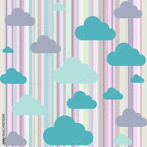 Background with vector clouds