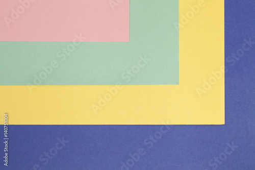 the angles of sheets of colored cardboard - Buy this stock photo and ...