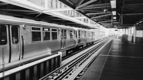 Canvas Print Chicago subway