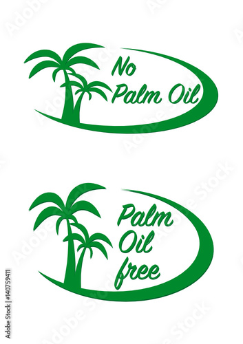 No Palm Oil Wall mural