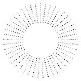 Czarno-biały kropkowany okrągły półton - 140768856