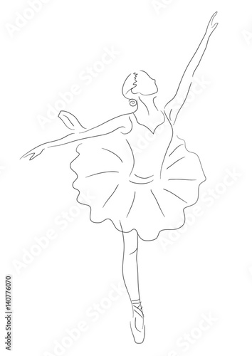 Abstract Ballerina Line Art Black And White Illustration Beautiful Classical Performance Dancer Buy This Stock Illustration And Explore Similar Illustrations At Adobe Stock Adobe Stock