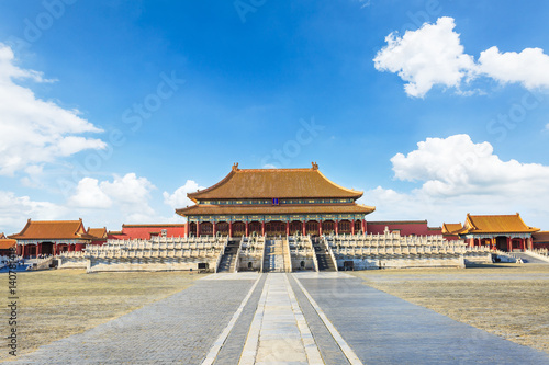 Peking ancient royal palaces of the Forbidden City in Beijing,China