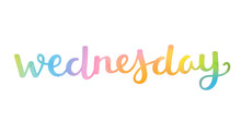WEDNESDAY Hand Lettering Icon