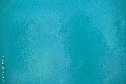 Glänzende Lackoberfläche türkis