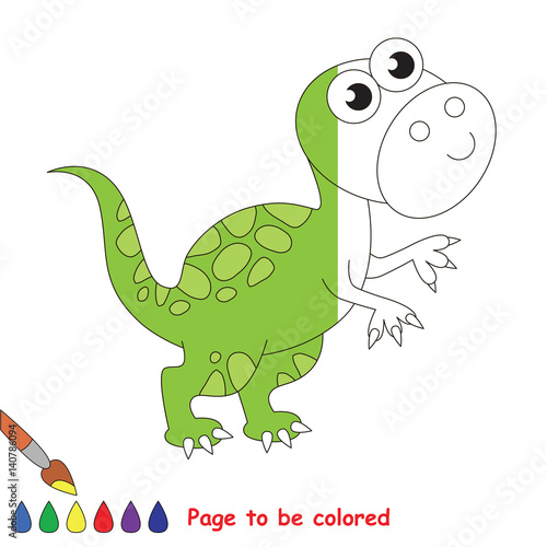 Deurstickers Dinosaurs Page to be colored.
