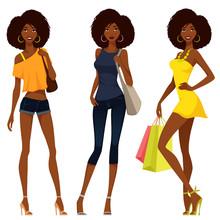 Beautiful African American Girls In Summer Fashion
