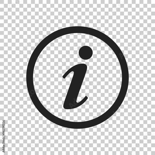 Fotografie, Obraz  Information Icon vector illustration in flat style