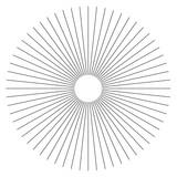 Abstrakcyjny element geometryczny linii promieniowych. Szprychy, promieniujące paski. - 140791008