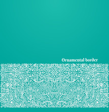 Vector Ornate Background With ...