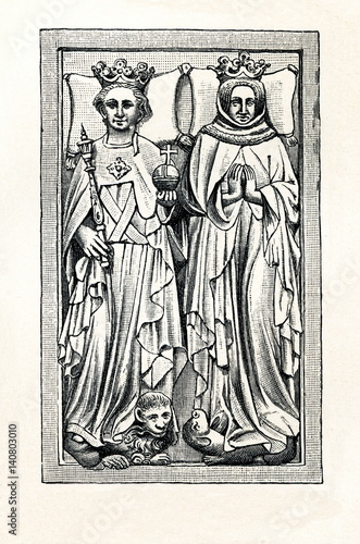 Photo  Tombstone of Rupert, King of Germany, and his wife Elisabeth of Hohenzollern in
