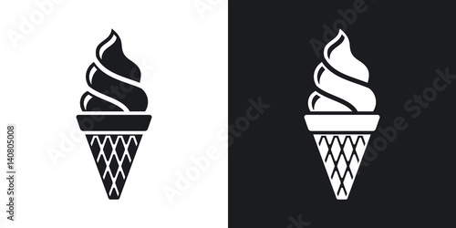 Fotografie, Obraz  Vector ice cream cone icon