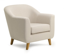 Tub Chair Beige Fabric Isolate...