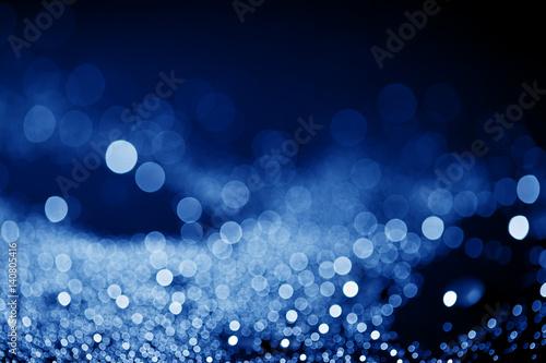 Fototapeta shiny bokeh in dark blue tone obraz na płótnie