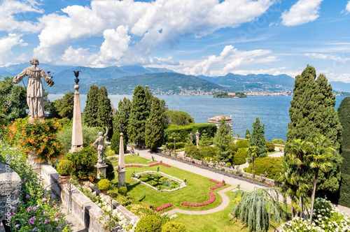 Fotografie, Obraz  Baroque garden of island Bella - isola Bella, is  one of the Borromean Islands of Lake Maggiore in Piedmont of north Italy