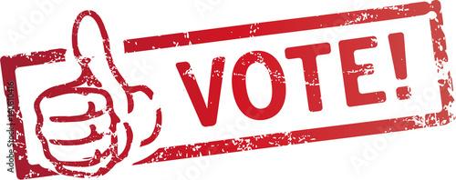 stempel vote! mit Daumen Canvas Print