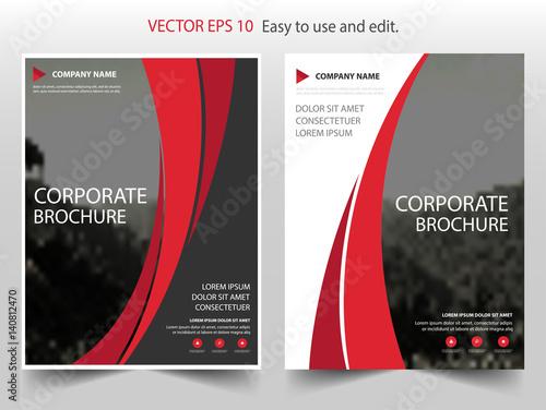 red curve vector business proposal leaflet brochure flyer