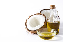 Coconut Oil Isolated On White ...