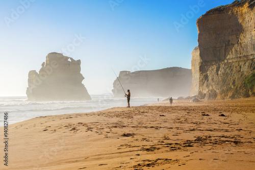 Foto op Canvas Australië Twelve Apostles beach and rocks in Australia, Victoria, beautiful landscape of Great ocean road coastline