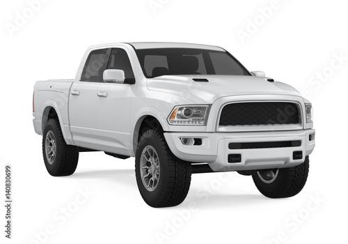Obraz Silver Pickup Truck Isolated - fototapety do salonu