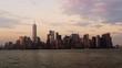 New York Sunset Lower Manhattan 4k