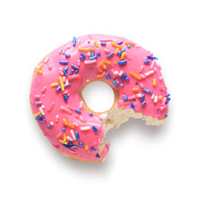 Pink Frosted Donut With Colorf...
