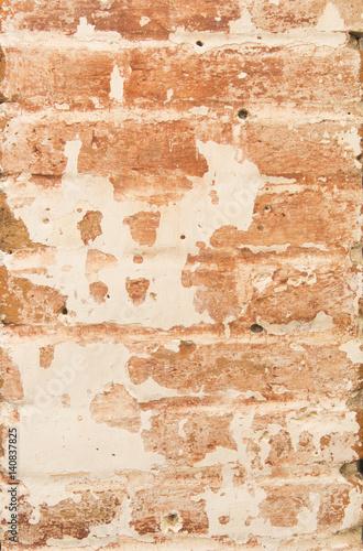 Foto auf AluDibond Alte schmutzig texturierte wand Orange grunge wall
