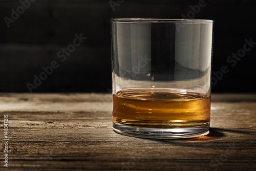 Foto op Canvas Alcohol Single Glass of Straight Bourbon