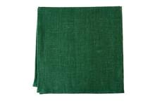Green Textile Napkin On White