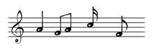 Pentagramma Con Note Musicali E Chiave Di Sol