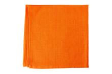 Orange Textile Napkin On White
