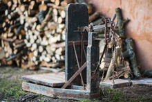 Ancient Platform Scales Wood A...