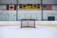 A Wide Angle View Of A Hockey ...