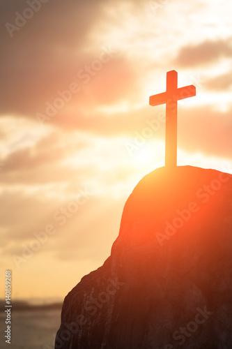 Fotografie, Obraz silhouette of cross