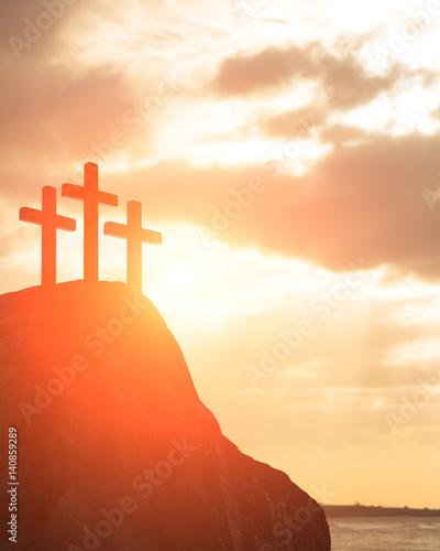 Photo silhouette of cross