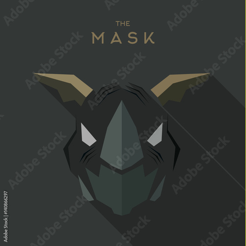 Villain Antihero Mask Hero superhero flat style icon vector logo illustration Fototapet