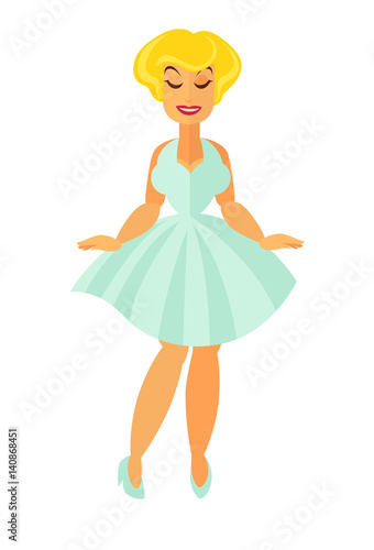 Photo  Cinema movie or musical theater actress vector flat icon