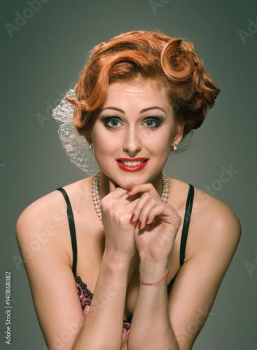 Photo Pretty woman's affectation