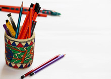 Paper Mache Pencil Stand With ...