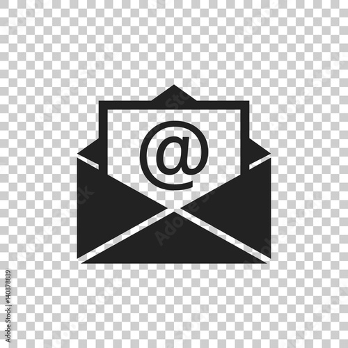 Fotomural  Mail envelope icon vector on isolated background