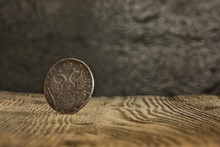 Closeup Of Old Russian Coin On...