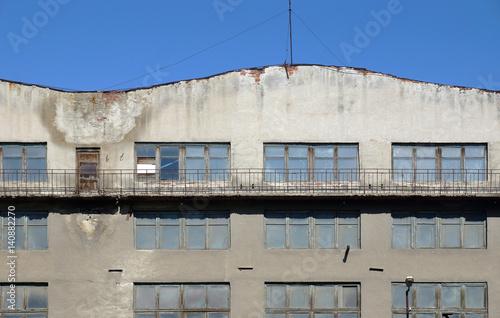 Staande foto Industrial geb. Exterior of an old industrial building
