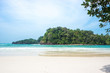 Beautiful white sand beach, the tropical sea . Summer view of nature.Tarutao national park , Thailand